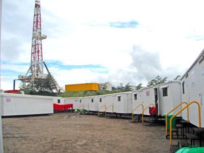 Caseta campamento sobre skid KNO