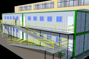 Arquitectura modular vista en render KNO