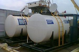 Planta de tratamiento de agua con tanque KNO